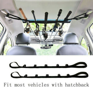 Portable Rod Holder Belt Strap Fishing Rod Saver Car Vehicle Rod Carrier Band