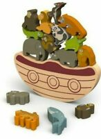 Wooden Toy Block Stacking & Balancing Animals NEW
