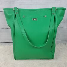 Jewell by thirty one Green Pebbled Leather Shoulder Satchel Large Handbag EUC
