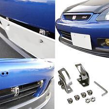 Car W Angle Adjustable Bumper License Plate Frame Mount Relocator Holder Bracket