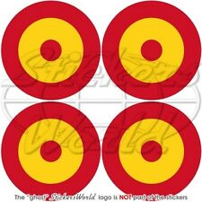 """SPAIN Spanish AirForce Aircraft Roundel 2"""" (50mm) Vinyl Stickers, Decals x4"""