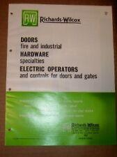 Richards-Wilcox Catalog~Doors~Asbestos~Fyre-Ward/Wall