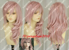 Final Fantasy 13 Lightning Serah New Long Mix Pink Cosplay Heat Resistant Wigs