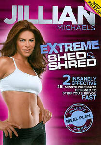 Jillian Michaels Extreme Shed & Shred DVD Exercise Work-Out NEW & Sealed