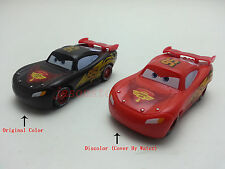 Mattel Disney Pixar Cars Color Changers Lightning McQueen Black- Red New