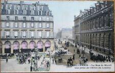 Paris, France 1910 Postcard: Metro Station, Rue de Rivoli - Art Nouveau