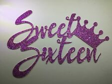 Glitter Sweet Sixteen cake topper, available in many colours, POSTS SAME DAY!