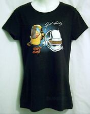 Get Ducky Lucky Black Fitted Women XL TeeFury Daft Punk Daffy Donald Duck Disney