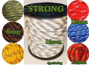 Braided Rope PolyRope Washing Clothes Line Pulley Rope Braided Cord Sailing Boat