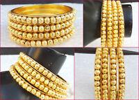 Bollywood Golden Beaded Kara Bangles Ethnic Indian Jewelry Fashion Bracelets Set