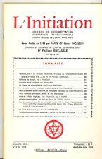 REVUE. L INITIATION Cahiers de Documentation Ésotérique. 51° ANNEE. N°2. 1978