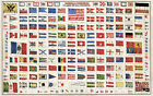 """Vintage Flags of the World CANVAS PRINT 16""""X12"""" Poster"""