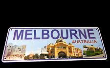 Australia Souvenir Metal Licence Number Plate Melbourne Tram Flinders St Station