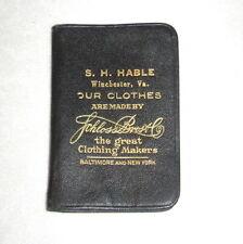 1927 Calendar Promo Note Book Advertising S.H. Hable Clothier Winchester Va.