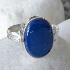 Ringe Echtschmuck mit Lapis Lazuli-Hauptstein und Cabochon-Schliffform für Damen