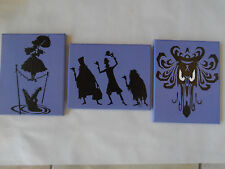 Haunted Mansion Hand Painted Canvas Wall Art - Set of 3 - Wall Hangings