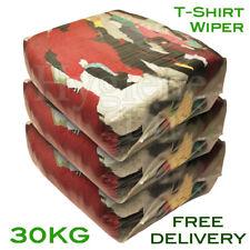 30Kg Tshirt Cotton Rags Wiping Cleaning Cloths Workshop Mechanic t-shirt t shirt