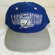 Vintage Twins Enterprise 90s Tampa Bay Lightning Wool Acrylic Snapback Hat Cap