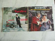 Lot de 2 vinyles 33T  comédies musicales BOURVIL/Georges GUETARY  ( voir photos)