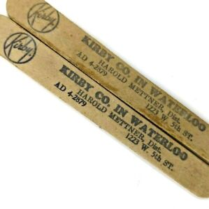 c1940s Waterloo, IA Kirby Vacuum Salesman Advertising Nail File Vtg LOT of 2 E4