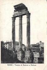 EARLY 1900's VINTAGE ROMA - TEMPIO di CASTORE e POLLUCE POSTCARD