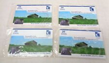Thuraya Satellite Phone PCO 2110 Calling Cards 20 Units - Lot of 4 - 80 Mins.