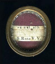 teca reliquia con documento 1858 S.ROSA DA VITERBO