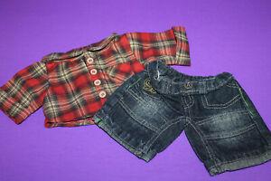 Build a Bear Plaid Shirt & Jeans
