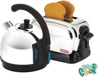 Casdon Breakfast Set - Kettle and Toaster toy - Chrome Effect