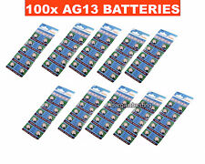 100 x AG13 Alkaline batteries button cells watch camera