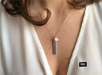 Collana Donna argento 925 ciondolo catenina cuore girocollo semplice oro rosa