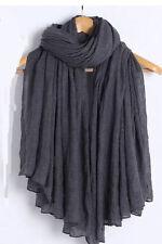 Ladies Fashion Big Large Maxi Long Wide Plain Viscose Scarf/Hijab Shawl/Wrap 3 #