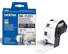 Brother DK Labels DK-11221 (23mm x 23mm) Square Continuous Paper Labels (Black