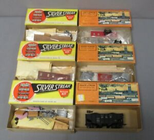 Silver Streak HO Assorted Caboose,Reefer & Hoppers [6]/Box