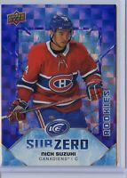 2019-20 Upper Deck Ice NICK SUZUKI SUBZERO Rookie /999 - Montreal Canadiens