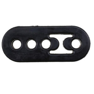 Car Rubber Exhaust Tail Pipe Mount Brackets Hanger Insulator 12mm 4 Holes Black