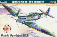SPITFIRE Mk.Vb (CZECH, DUTCH, FRENCH, POLISH, RAF, USAAF MKGS) 1/72 MISTERCRAFT