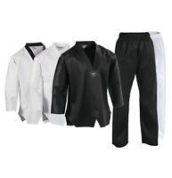 PFG Taekwondo Uniform Lightweight Gi Pant White Black w/ Belt adult kids 8oz TKD