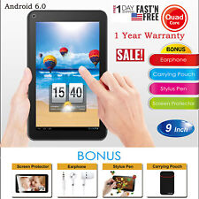 """9"""" Android 6.0 Quad Core Tablet 8GB Touch Screen HD Dual Camera 1.2GHz WIFI MIC"""