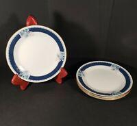 "Set of 4 Vintage Noritake Japan Nightsong Ivory China Bread Plates 6 3/8"""