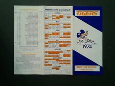 1974 Detroit Tigers Baseball Tri-Fold Schedule~Ticket Brochure~Roster~RARE