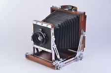 GORGEOUS IKEDA ANBA WOOD VIEW 4x5 FIELD CAMERA w/NIKKOR 135mm F5.6 LENS, NICE!