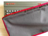 ZX SPECTRUM 128K +2 GREY/BLACK - COTTON CANVAS - GRAPHITE GREY - DUST COVER