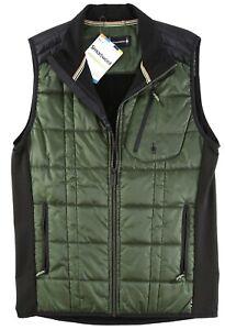 Smartwool Corbet 120 Men's Olive Quilted Zip Front Vest Size XL 82027