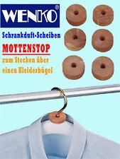 WENKO Mottenschutz 6 St Mottenringe Mottenkugeln Zedernholz Ringe Kleiderschrank