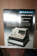 Vintage Sanyo Check-A-Tron Cash Register Spec Sheet Model ECR 12LBN Rare 1976