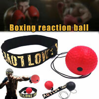 Boxing Punch Exercise Fight Ball Reflex Boxer REACT Speed Training Head Band Box