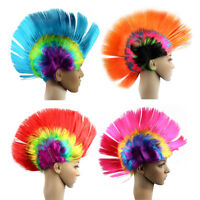 Rainbow MOHAWK WIG 70s 80s Rock Punk Hair Costume Mohican Rooster Wig Fancy