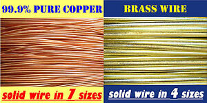 Assorted Sizes ..56mm - 6mm Copper Wire, Brass Wire for Bonsai Jewellery Crafts