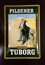 Tuborg Pilsener & Beer Pub Decor Wall 3D Embossed Garage Metal Sign 20 X 30 Cm